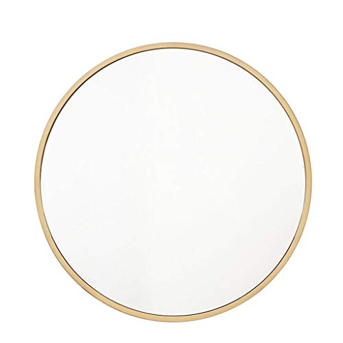 Spiegel Wandspiegel Einfache Metallwandspiegel Runde Goldrahmen dekorative Spiegel, for Bad, Schlafzimmer, Wohnzimmer und Galerie