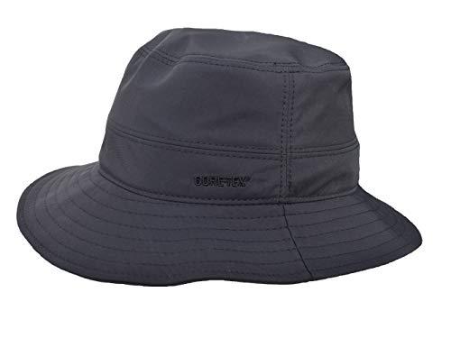 Wegener Gore-Tex-Hut, mit UV-Shutz, Lichtschutzfaktor 40+, aus Microfaser. Winddicht, regendicht und atmungsaktiv (schwarz, 60)