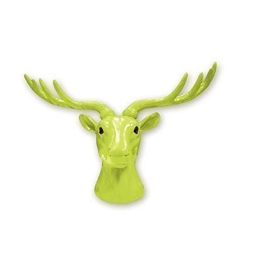 Walplus 43 X 26.5 11.8 cm Tête Cerf Animal Manteau Support Mural Autocollants Art Maison Décoration Salon Chambre Bureau Décor DIY, Vert