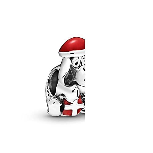 Pandora 925 plata esterlina DIY joyería Charmbead dis eeyo encanto de Navidad ajuste moda pulsera femenina regalo de la joyería