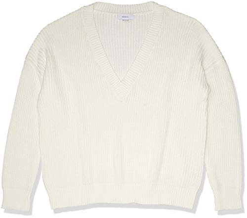Forever 21 Women's Ribbed Sweater, Cream, 3X