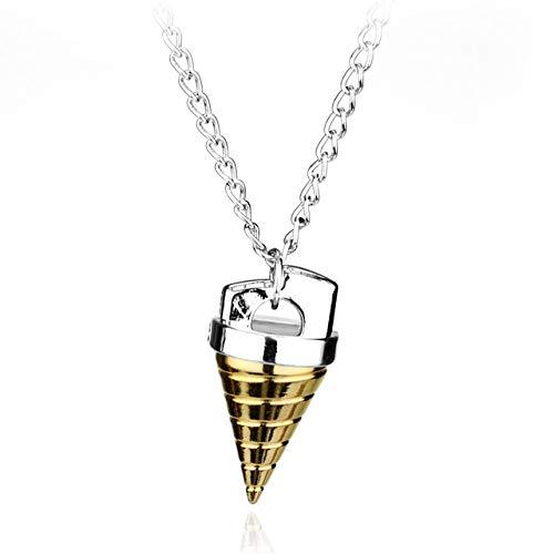 Davitu Anime Gurren Lagann Core Drill Tengentoba Gulenlagan KINON Tengen Toppa Pendants Necklace Jewelry Gift for Children Men Cosplay - (Metal Color: Sliver)