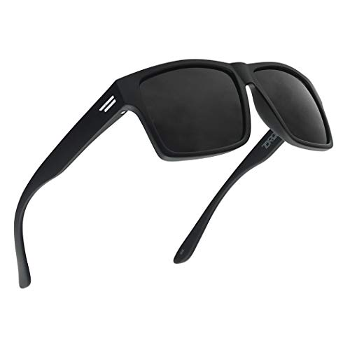 TOROE Classic RANGE CAT4 Black Tint Polarized TR90 Unbreakable Sunglasses (Matte Black | Black...