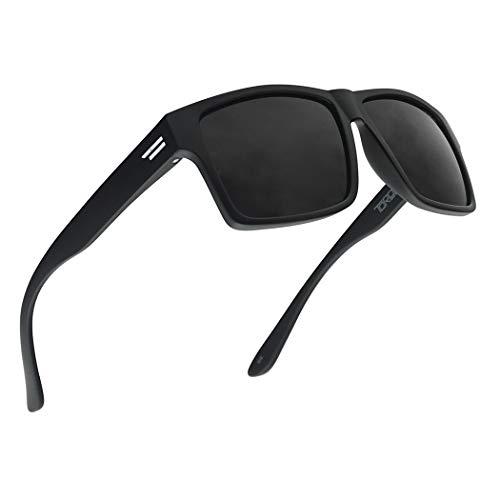 TOROE Classic RANGE CAT4 Black Tint Polarized TR90 Unbreakable Sunglasses (Matte Black | Black...