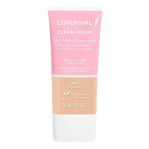 COVERGIRL, Clean Fresh Skin Milk Foundation, Medium, 1 Count