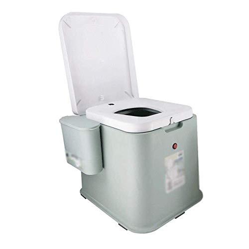 GJNVBDZSF Vaso sanitário portátil inteligente para ambientes externos, com função de descarga e anel de vedação desodorante, pode ser usado ao ar livre por idosos e pacientes
