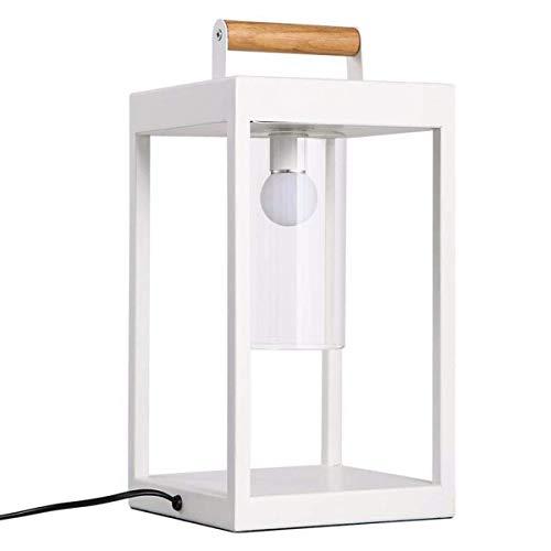 MOZUSA Lámparas de Mesa, Fino y Elegante lámpara de Mesa, Creativo Salón Dormitorio Cama de Hierro Cuadrado del Arte lámpara de Escritorio, Trabajo Infantil Lectura Decorativo