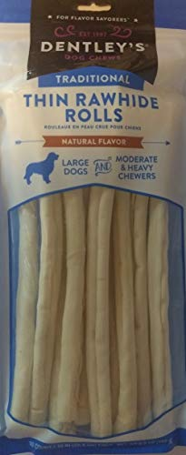 DENTLEY'S Natural Flavor Rawhide Retriever Sticks for Large Dogs - 10 Count
