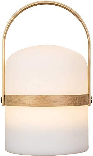 Tafellamp in Scandinavisch design, tuinverlichting, LED-tuinverlichting buiten, lantaarn, lamp, LED-licht, terras, lantaarn binnen en buiten, dimbaar, oplaadbaar, USB-aansluiting