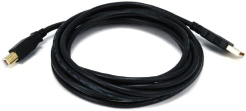15ft USB 2.0 Extension /& 10ft A Male//B Male Cable for Canon FAXPHONE L190 Monochrome Laser Fax Machine Duplex Printer