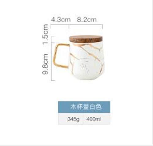 Luxus Matt Keramik Marmor Tee Kaffeetassen Und Mit Holz Untertassen Schwarz Und Weiß Gold Inlay Keramik Tassen c
