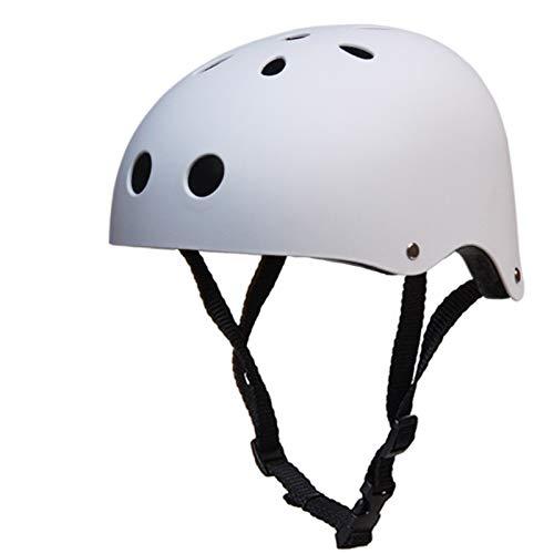 Kalaokei, casco da sci alpinismo alla deriva casco unisex sport pattinaggio bicicletta sci casco di sicurezza per scooter skate skateboard bianco M