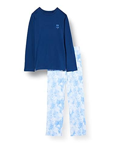 Schiesser Mädchen Schlafanzug kurz Pyjamaset, dunkelblau, 140