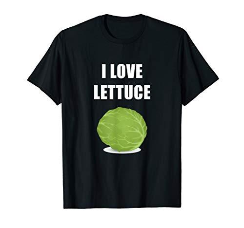 I Love Lettuce T-Shirt Green Leaf Vegetable Salad Lover Food