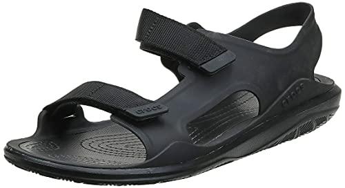crocs Men's Swiftwater Expedition M Slate Grey/Black Sandal-7 UK (206526-0DY)-M8
