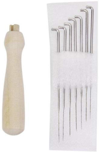 NUOLUX 7pcs Felting Needles Set with Handle Wool Felt Tool Felting Starter Kit