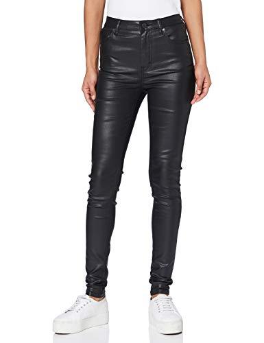 Superdry High Rise Skinny Jeans Vaqueros, Negro Encerado 46A, 28W / 32L para Mujer