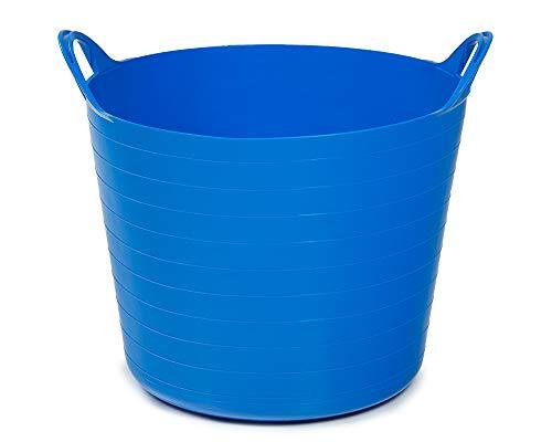 Ondis24 Tragekorb Flexi Tub 26L, Spielzeug Eimer Kinderzimmer, Wäschekorb Flexibler Kunststoff, Garten Kübel, blau