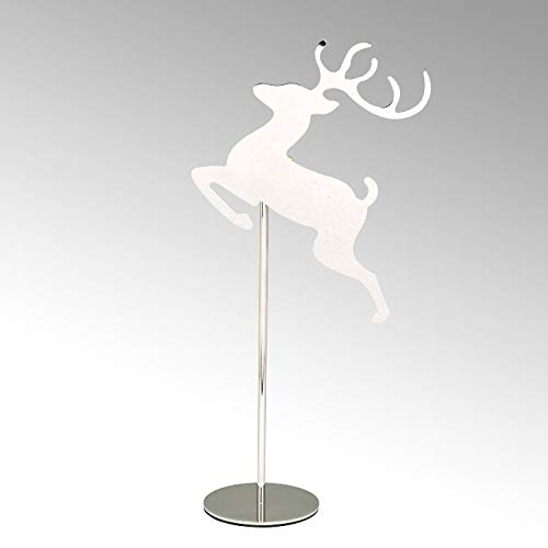 Lambert - Teelichthalter, Kerzenhalter - Rudolph - Rentier - Stahl - vernickelt - Höhe 35 cm