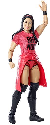 WWE - Elite Figura de acción luchadora Brie Bella con accesorios de lucha Juguetes...