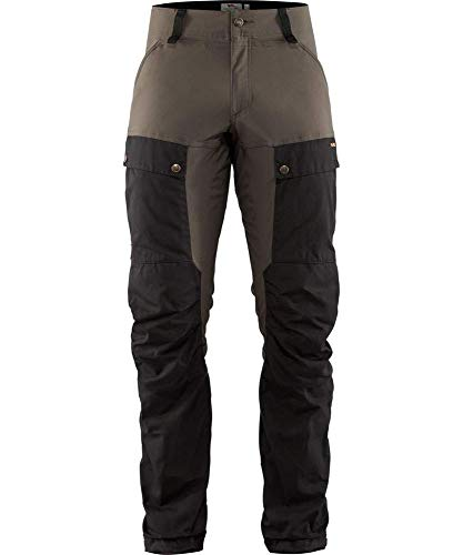 Fjallraven Herren Keb Trousers M Long Sport, Black-Stone Grey, 50