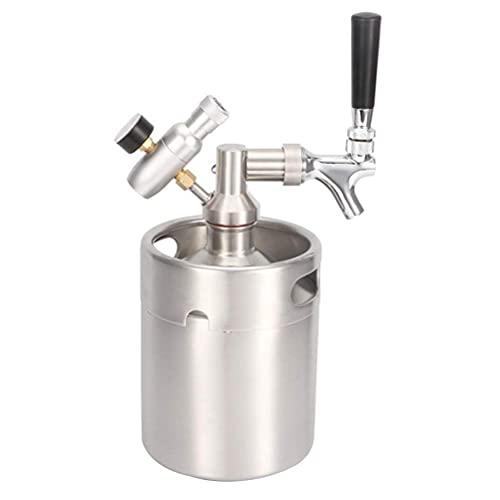 BJH I Kit de système de tonneau de bière Auto-infusé en Acier Inoxydable 2L de Baril de bière, Outil de Brassage de bière de Mini régulateur de Robinet