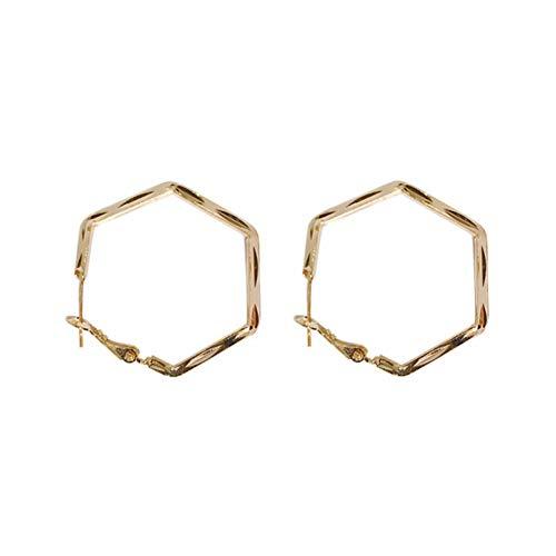 TTYJWDWY-925 Agujas De Plata, Pendientes Sencillos De Mujer, Anillos Hexagonales Geométricos, Pendientes Elegantes