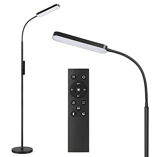 Anten Katarina | LED lampada da terra nera dimmerabile | incl. scheda LED 15W | lampada da terra | 3000K - 6000K bianco caldo - bianco freddo | funzione memory & touch