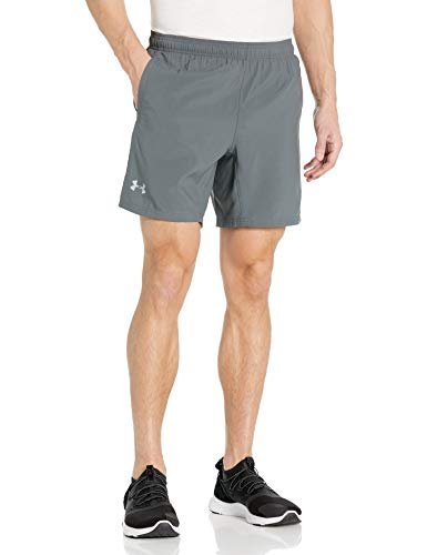Under Armour Men's Speed Stride 7-inch Woven Shorts, Pitch Gray (012)/Reflective, Large