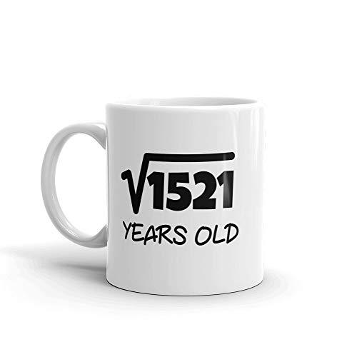 LAKILAN Taza/Taza de café de cerámica,11 oz,raíz Cuadrada de 1521: 39.º cumpleaños,39 años,Taza '