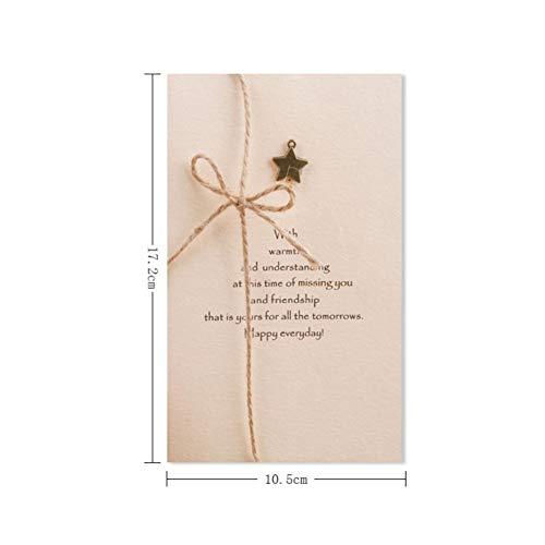 CHENTAOCS creatieve retro wenskaart, vouwen handgemaakte kaart metalen teken, vakantie verjaardag Thanksgiving kerstwensen wenskaart, bedrijf vakantie wenskaart, handgeschreven kaart wenskaart