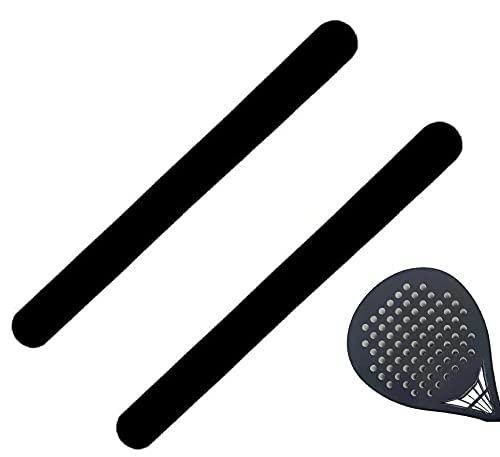 JGR SELECT Protector para Pala de Padel Negro – Pack 2 Unidades, Acabado Rugoso – Protector Pala Padel con Adhesivo