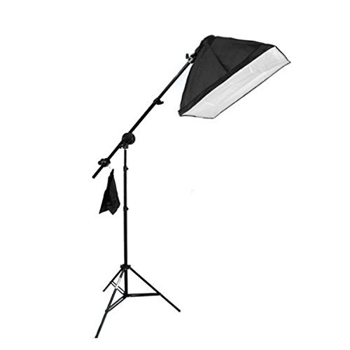 【Lighting Adventure】バンクライトブームセット 写真撮影用照明セット 4灯ソケット+三脚スタンド+60X60ソフトボックス
