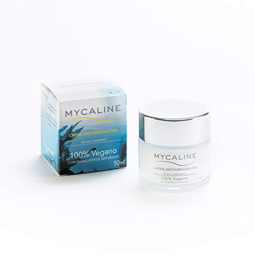 Crema Antiarrugas Dia MYCALINE 100% VEGANO con Ingredientes Naturales a base de ALGAS MARINAS. 50ml. Cosmetica Natural Fabricado en España