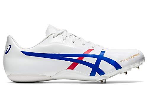 ASICS Hypersprint 7 Unisex Track & Field Shoe (White/Asics Blue, 5.5 M US)