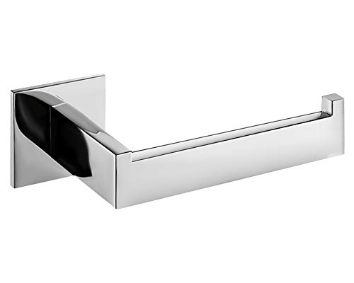 Homovater Porta Carta Igienica Autoadesivo-Acciaio Inox Portarotolo Carta Igienica Senza Foratura Porta Rotolo Carta Igienica per Bagno e Toilette