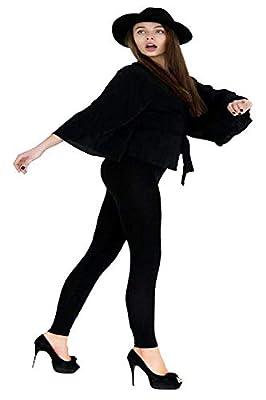 LDR128-BLACK Basic Solid Leggings, One Size