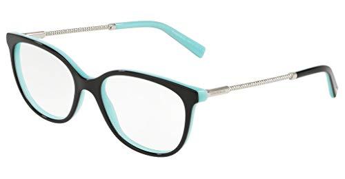 Tiffany & Co. Eyeglasses TF2168 TF/2168 8055 Black Full Rim Optical Frame 54mm, Black Blue, Lens-54 Bridge-17 B-42.4 ED-57.8 Temple-140