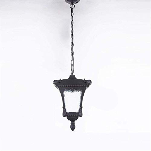 Bradoner Candelabros, araña de cristal al aire libre, lámpara de araña sin miedo al agua, luces colgantes exteriores, cubierta esférica de aluminio, decoración de metal, chandeler de pórtico de jardín