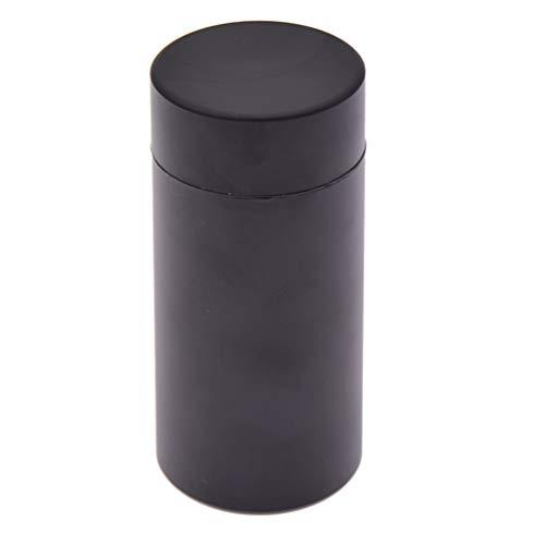 Kesheng Teedose Kaffeedose für 50g Tee Schwarz Luftdicht Alulegierung Aufbewahrung