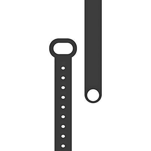 BOND TOUCH 9.5 Inch Adjustable TPU Band Soft Silicone Wrist Bracelet Vibrating Wristband Accessory for Module Device, Charcoal Black