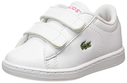 Lacoste Carnaby Evo Bl 2 Sui, Zapatillas Unisex Niños, Blanco (B53 White/Pink), 20 Eu