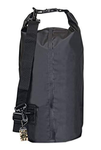 MARTINEZ Set DE Bolsa Estanca Negra. 20 litros Tipo: Bolsa Estanca Material: PVC Color: Negro Y PETACA Acero Nobel