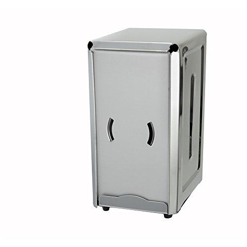 """Winco NH-7, Stainless Steel Full-Size Dispenser For 3.5"""" x 7"""" Napkins, Tabletop Tall Fold Restaurant Napkin Dispenser"""