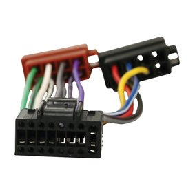 Fascio di cavi con adattatore ISO, per autoradio Kenwood da 16 pin