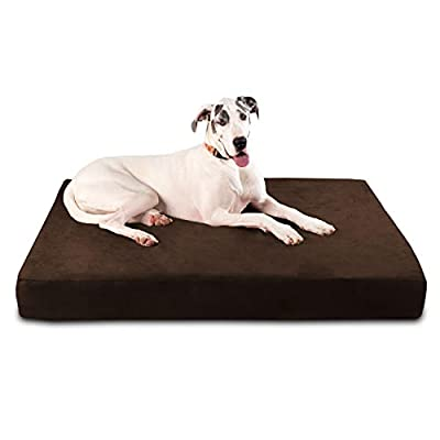 "Big Barker 7"" Pillow Top Orthopedic Dog Bed - Giant Size - 60 X 48 X 7 Inches - Chocolate - for Large and Extra Large Breed Dogs (Sleek Edition)"