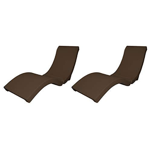 SwimWays 6042376 TerraSol Sonoma All Weather Rattan Pool Chaise Lounge Float, Brown (2 Pack)