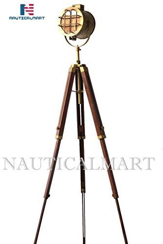 NauticalMart Designer Marine Floor Lamp Spotlight Nautical Studio Tripod Floor Search Light