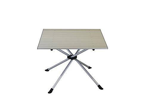 Portal Porto Active campingtafel, 60 x 60 x 45 cm, klaptafel, tuintafel met aluminium tafelblad