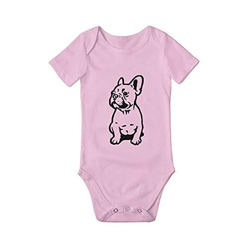 Cute French Bulldog Baby Onesies For Boys Girls Funny Infant Newborn Bodysuit Outfits Short Sleeve